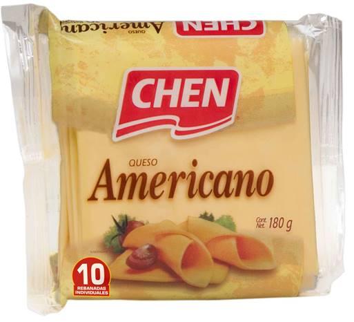 QUESO AMARILLO INDIVIDUAL 180 G CHEN